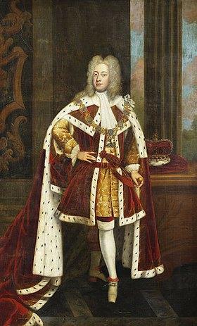 Sir Godfrey Kneller: Bildnis von König George II als Prince of Wales in seiner Staatsrobe und der Kette des Hosenbandordens