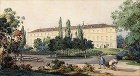 Carl Maria Nicolaus Hummel: Nordansicht der Residenz des Großherzogs von Weimar