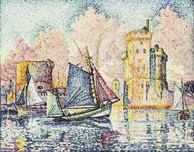 Paul Signac: Fischerboot im Hafen von La Rochelle