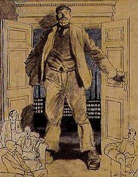 Eduard Thöny: Die englischen Wahlen (Arbeit und Kapital). Blatt für den Simplizissimus
