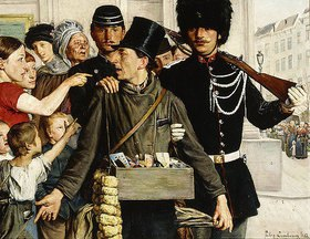 Jules Lambeaux: Die Verhaftung