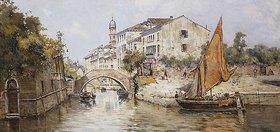 Antonio Maria de Reyna Manescau: Seitenkanal in Venedig
