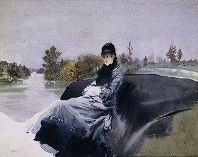 Giuseppe de Nittis: Dame in einer Kutsche (Signora in Vettura)