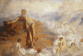 George Spencer Watson: Prometheus wird von den Erdgeistern getröstet 'How Fair These Air-Borne Shapes! And Yet I Feel Most Vain All Hope But Love...' -Shelley