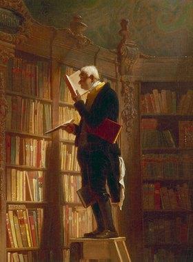 Carl Spitzweg: Der Bücherwurm (Detail)