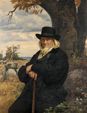 Ernst Henseler: Bildnis des Dichters Heinrich August Hoffmann von Fallersleben