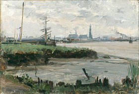 Albert Gottschalk: Antwerpener Hafenlandschaft