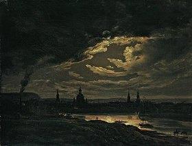 Johan Christian Clausen Dahl: Nächtliche Ansicht von Dresden