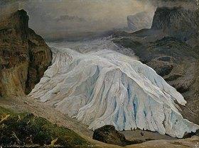 Georg Heinrich Crola: Der Rosenlaui-Gletscher