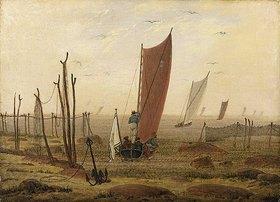 Caspar David Friedrich: Der Morgen (Ausfahrende Boote). Nach