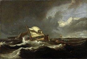 Ludolf Backhuyzen: Boote in stürmischer See