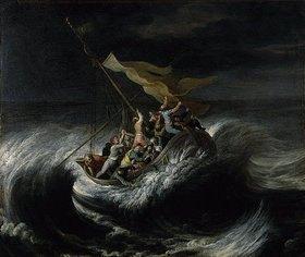 Flämischer Meister: Christus im Sturm auf dem See Genezareth. 1. Viertel 17. Jahrhundert