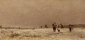 Adolf Heinrich Lier: Winterliche Jagd