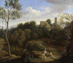 Gaspard Dughet: Italienische Landschaft. 3. Viertel 17. Jahrhundert