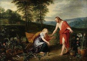 Jan Brueghel d.J.: Noli me tangere (Erscheinung Christi als Gärtner vor Magdalena)