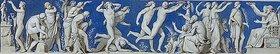 Eduard Bendemann: Entwurf für den Fries im Ball- und Konzertsaal des Dresdner Schlosses, zweites Bild: Gymnastische Spiele