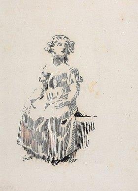 Gottfried Schadow: Sitzendes Mädchen