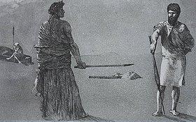 Max Klinger: Satyre, aus Opus II, Rettungen Ovidischer Opfer