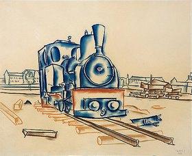 Walter Ophey: Lokomotive einer Feldbahn