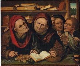 Quentin Massys d. J.: Bittsteller im Büro von zwei Steuerneintreibern