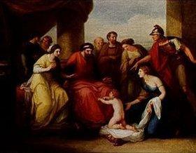 Angelika Kauffmann: Der junge Pyrrhus bittet den illyrischen König Glaukias und seine Gemahlin um