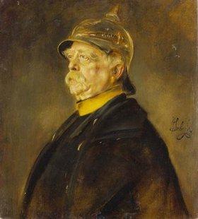 Franz von Lenbach: Fürst Otto von Bismarck im Profil mit Kürassierhelm