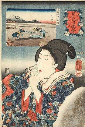 Utagawa Kuniyoshi: Die Provinz Shinano (Blatt 20 aus der Serie Die Schätze von Bergen und Seen)