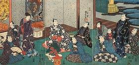 Utagawa Kuniyoshi: Gäste bei Danjuro VIII