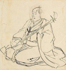Utagawa Kuniyoshi: Shamisen-Spieler