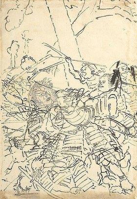 Utagawa Kuniyoshi: Im Kampfgetümmel