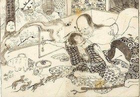 Utagawa Kuniyoshi: Der Geist der Oiwa kehrt zurück zu ihrem Mann