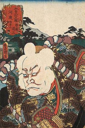 Utagawa Kunisada: Goto, am Berg Inaba (Aus der Serie Die 69 Stationen am Kisokaido)