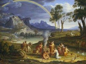 Joseph Anton Koch: Landschaft mit dem Dankopfer Noahs
