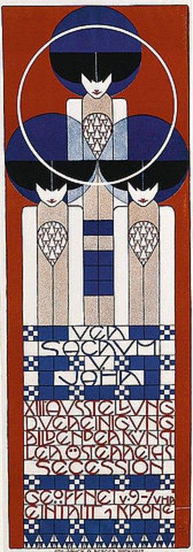Koloman Moser: Plakat für die XIII. Ausstellung der Wiener Secession. Farblithographie, Druck Albert Berger Wien