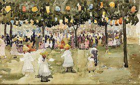 Maurice Brazil Prendergast: Der Central Park in New York am 4. Juli
