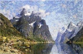 Adelsteen Normann: Der Hardangerfjord in Norwegen