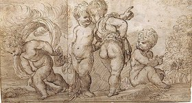 Domenico Campagnola: Vier Putten