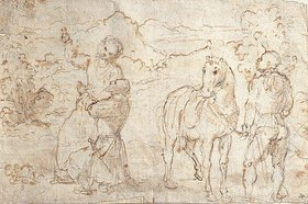Girolamo Romanino: Kaiser Augustus und die Sibylle