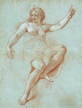 Giacinto Calandrucci: Studie zur Gestalt der Aurora. Um 1680er Jahre