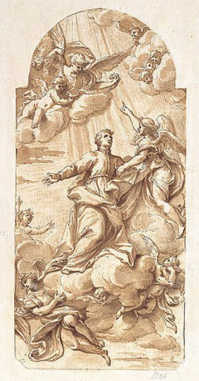 Camillo Rusconi: Die Glorie des S. Giovanni Francesco Regis