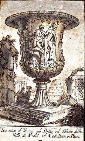 Pier Leone Ghezzi: Zwei antike Vasen