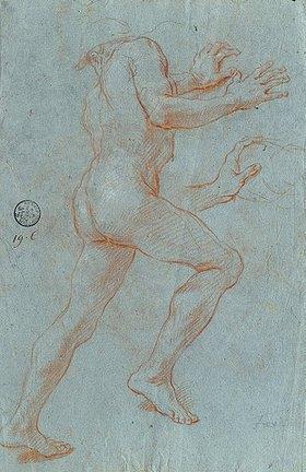 Giovanni Antonio Grecolini: Studie eines männlichen Aktes