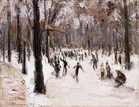 Max Liebermann: Eisläufer im Berliner Tiergarten