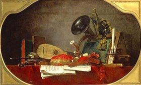 Jean-Baptiste Siméon Chardin: Musikinstrumente und Noten (Les Attribu- tes de la Musique)