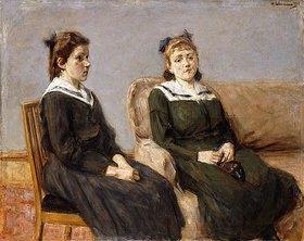 Max Liebermann: Die Zwei Schwestern Leder