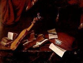 Franz Friedrich Franck: Stilleben mit Geige und Laute