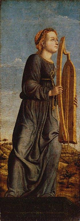 Ferraresischer Meister: Harfespielende Muse