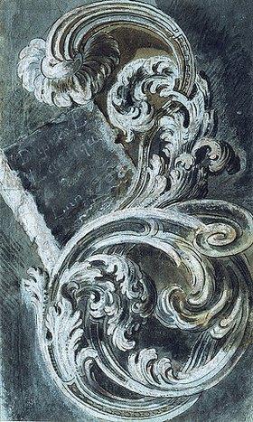 Francois Cuvilliés: Inschriftplatte in Rankenornament