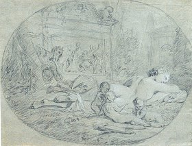 Pierre Subleyras: Die schlafende Venus, von einem Satyrn beobachtet
