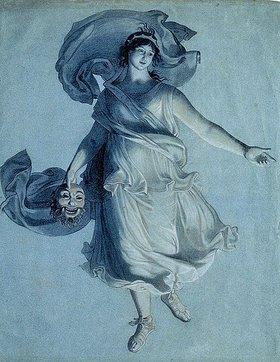 Friedrich Wilhelm von Schadow: Muse der Schauspielkunst. Nach